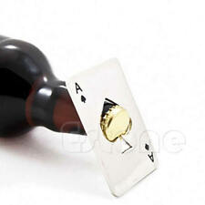 Men's Gift Playing Card Ace of Spades Poker Bar Tool Bottle Soda Beer Cap Opener