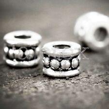 150Pcs Tibetan Silver Tube Beads Spacer Finding TS0084