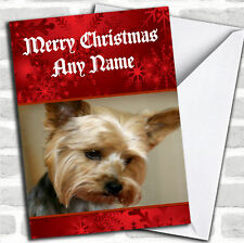 Yorkshire Terrier Dog Christmas Customised Card