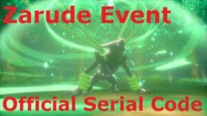 Pókemon Zarude Code - Vilvid Voltage Event - Pokémon Sword and Shield
