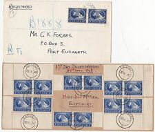 * 1927/48 4 x GB NEWFOUNDLAND SOUTH AFRICA ROYALTY RELATED POSTAL HISTORY COVERS