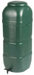Ward Slim Space Saver Water Butt with Lid & Tap 100L Green garden storage new