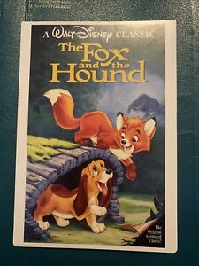 """RARE The Fox And The Hound (Disney) - Toys """"R"""" Us VIDPro Display Card"""