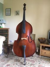 3/4 Upright Double Bass with bow, stand and soft case