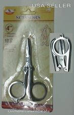 Folding Scissors Travel Pocket Size Sharp 4 inch long Stainless Steel NEW