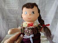 Vintage brunette Victorian vinyl doll