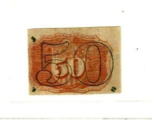"50 CENT (FR-1317) ""WASHINGTON"" 1800'S (BEAUTIFUL) FR-1317 SUPER CRISPY!!!! RARE!"