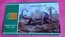 phonecard. Dinosaur. Dilodocus longus. Zdenek Burian. 1905-1981. Issue no 32.
