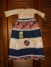 Prim WALL DRESS Primitive Decor PATRIOTIC 1776 Americana, Flag, Country, Grungy
