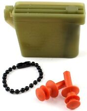 NEW SIZE MEDIUM Military Issue Ear Plugs W/ Storage Case Tactical Earplugs 26db