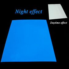 Glow In The Dark Sticker Self Adhesive Tape A4 Sheet Stickers New Sign Maki X3T1
