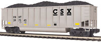 MTH 1:48 O Scale CSX #397345 Coalporter Hopper w/Coal Load Train Car #20-97241
