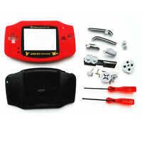 Red Black Pokemen Full Housing Shell Case for Nintendo Game boy Advance GBA