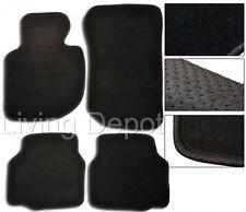 Fit For 1992-1998 BMW E36 3-Series Floor Mats Carpet Front & Rear Nylon Black