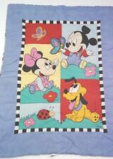 Disney Babies Baby Blanket Quilt Mickey Mouse Minnie Mouse Pluto 2 Sided 41x30