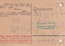 Berlino, CARTOLINA POSTALE 1930, Aug. SuSE & Frid. Hoffmann manifatturiera hauswirtschaftlic