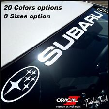 Windshield Sticker Banner Decal For Subaru Front window Graphic Subie emblem