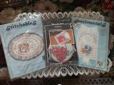 Lot of 3 Unopened Dimensions & Wonderart Embroidery, Cross Stich Project Kits