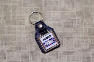 Triumph Herald Keyring - Leatherette and Chrome Keyfob
