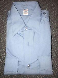 Flying Cross Light Blue Uniform Shirt 15x34 Duro Poplin