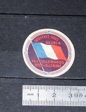 DELANDRE CINDERELLA 1915 VIGNETTE PATRIOTIQUE GUERRE 14-18 souvenez-vous de 1914