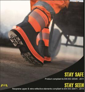 Brightboot 360 Degree Hi-Viz Safety Boot Wellington Wellies Toe Cap CE Certified
