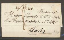 1824 Lettre Marque 66 BELFORT 38*10mm Noir HAUT-RHIN(66) Superbe X1581