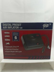 AAA Digital Preset 12V DC Air Compressor - Tire Inflator With Built In Pressure