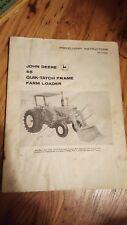 John Deere 48 Quik Tatch Frame Farm Loader Predelivery Instructions Manual