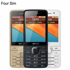 V9500 Mobile Cell Phone Four 4 SIM Card Bluetooth Flashlight 2.8 Inch