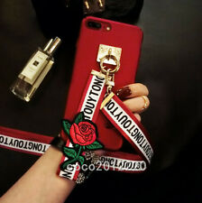3D Fashion Cute Detachable Rose Flower Strap Hard Case Cover #2