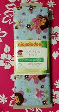 NIP Nickelodeon CREATIVE CUTS cotton print DORA & BOOTS 100% cotton 2 yards