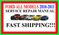 Ford 2010-2011 ALL Models on DVD Repair Factory Workshop Software DVD Manual