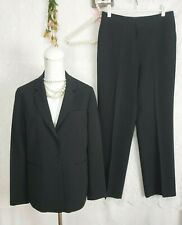 Womens Suit Size 10 Black Pinstripe EUC fully lined