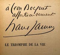 1902 EO FRANCIS JAMMES *AUTOGRAPHE* LE TRIOMPHE DE LA VIE POESIES LIVRE BOCQUET