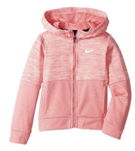 Nwt Girls Size 4 Nike Pink Zip Up Hoodie