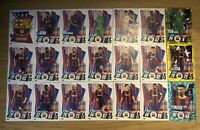 MATCH ATTAX 2020/21 FULL TEAM SET OF ALL 21 BARCELONA CARDS INC FOILS