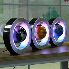 4'' Magnetic Floating Globe Levitation O Shape LED World Map Home Office