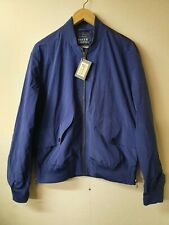 RIVER WOODS Big Pocket Bomber Jacket-Blue Size L rrp e225