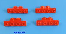 LEGO / Rosso / 1x2-1x4 angolo PIASTRA / 4 pezzi