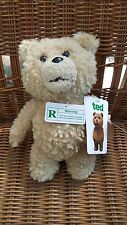 "TED Talking Plush Movie Bear Brown New w/ Tags Commonwealth Toys 8"" R rated"
