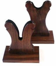 Walnut Wood Gun Rack Stand - Rifle Shotgun Lever Universal Table Display
