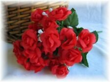 240 Mini Open Roses RED Wedding Centerpieces Bridal Silk Flowers
