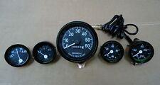 JEEP Speedometer (12 VOLT) fits 1946-66 CJ-2A, 3A, 3B,M38, M38A1 -Gauges Kit  bl