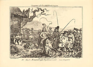 1873 james gillray ( the caricaturist )print. teach - english republican to work