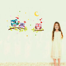 Removable Waterproof Cartoon Animal Owl Wall Sticker For Kids Rooms Home Decor