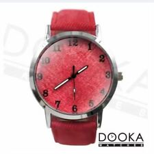 DOOKA  SONSDO Men's Apple Red Leather Strap Watch 6836