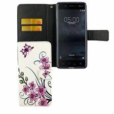 Schutz Hülle für Handy Nokia 5.1 2018 Lotusblume Tasche Wallet Cover Case Neu