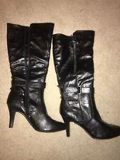 NIB Womens White Mountain Boots Black 9.5