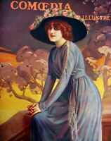 Hanger Monna Delza Cover Comoedia Shown N° 13 1910 Hat Hennard
